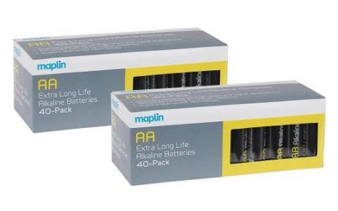 Maplin Extra Long Life High Performance Alkaline+ AA Batteries 80 Pack Carton