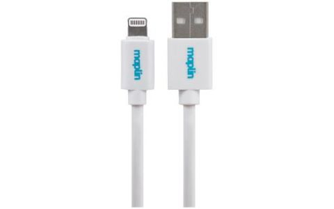 Maplin Premium Lightning Connector to USB A Male Cable 3m White