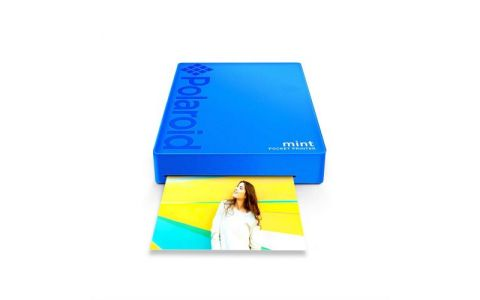 Polaroid Mint Printer - Blue (5 X free sheets)