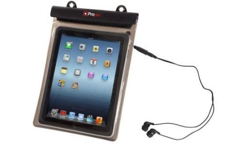 ProperAV Waterproof Case for 10 inch Tablets inc Waterproof Earphones