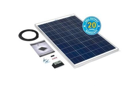 PV Logic 100wp Solar Panel Kit & 10Ah Charge Controller