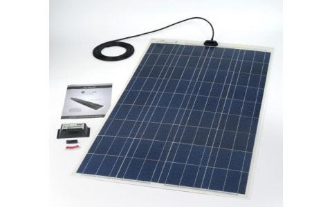 PV Logic 120wp Flexi PV Kit & 10ah Charge Controller