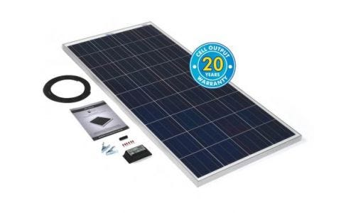 PV Logic 150wp Solar Panel Kit & 10Ah Charge Controller