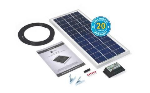 PV Logic 20wp Solar Panel Kit & 10Ah Charge Controller