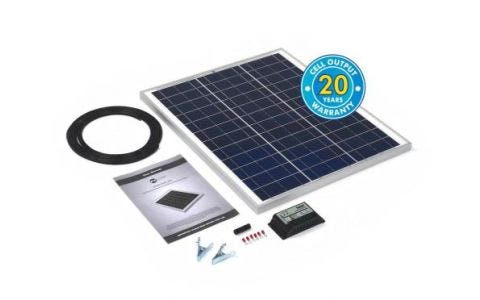 PV Logic 45wp Solar Panel Kit & 10Ah Charge Controller