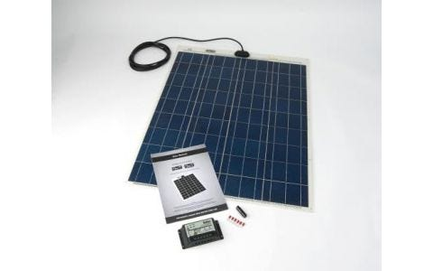 PV Logic 80wp Flexi PV Kit & 10ah Charge Controller