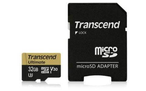 Transcend 32GB UHS-I U3 MLC MicroSD Card with Adapter