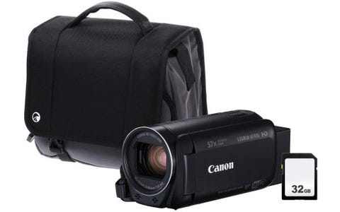 Canon Legria HF R86 Black Camcorder Kit including 32GB SD Card & Case