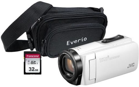 JVC GZ-R495 4GB Memory HD Quad Proof Camcorder Kit with 32GB SD and Case - White