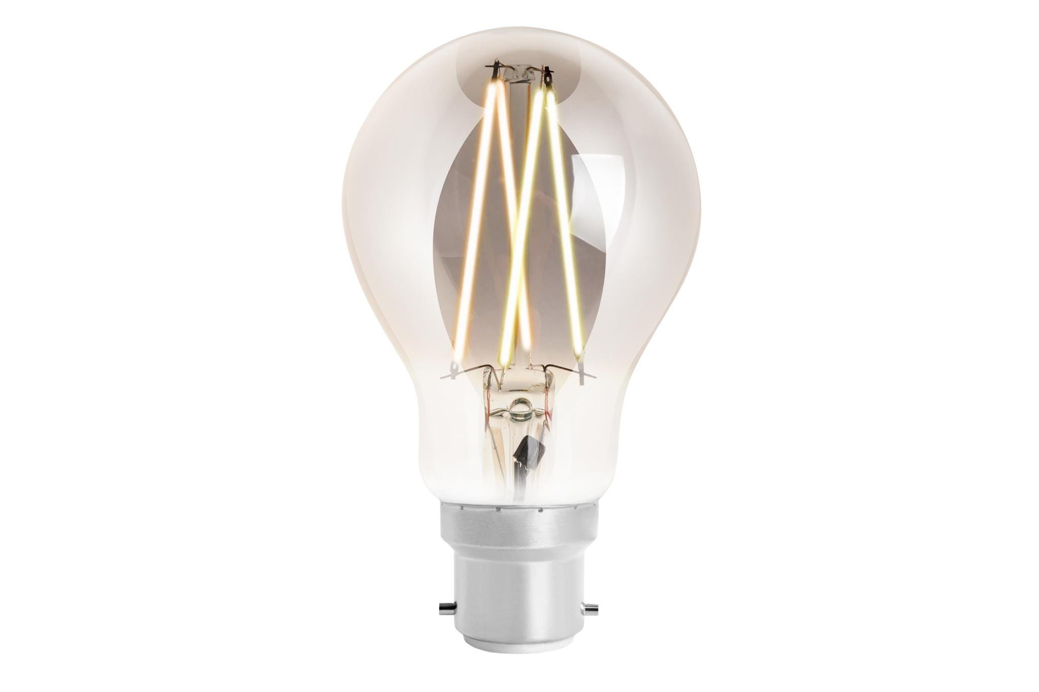 4lite WiZ Connected A60 Edison Filament LED Smart Bulb Smoky White Dimmable WiFi  - B22 Bayonet
