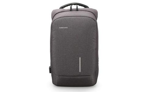 """Kingsons Smart Anti Theft USB Charge Series 15.6"""" Laptop Backpack - Dark Grey"""