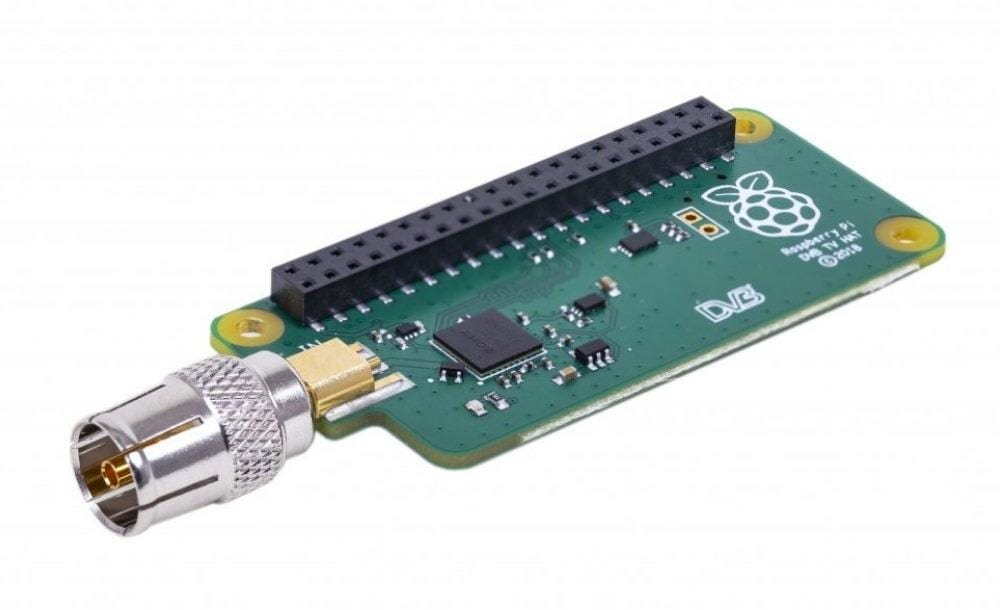 Raspberry Pi Pi TV uHAT for DVB-T2/T Coaxial Cable Connections