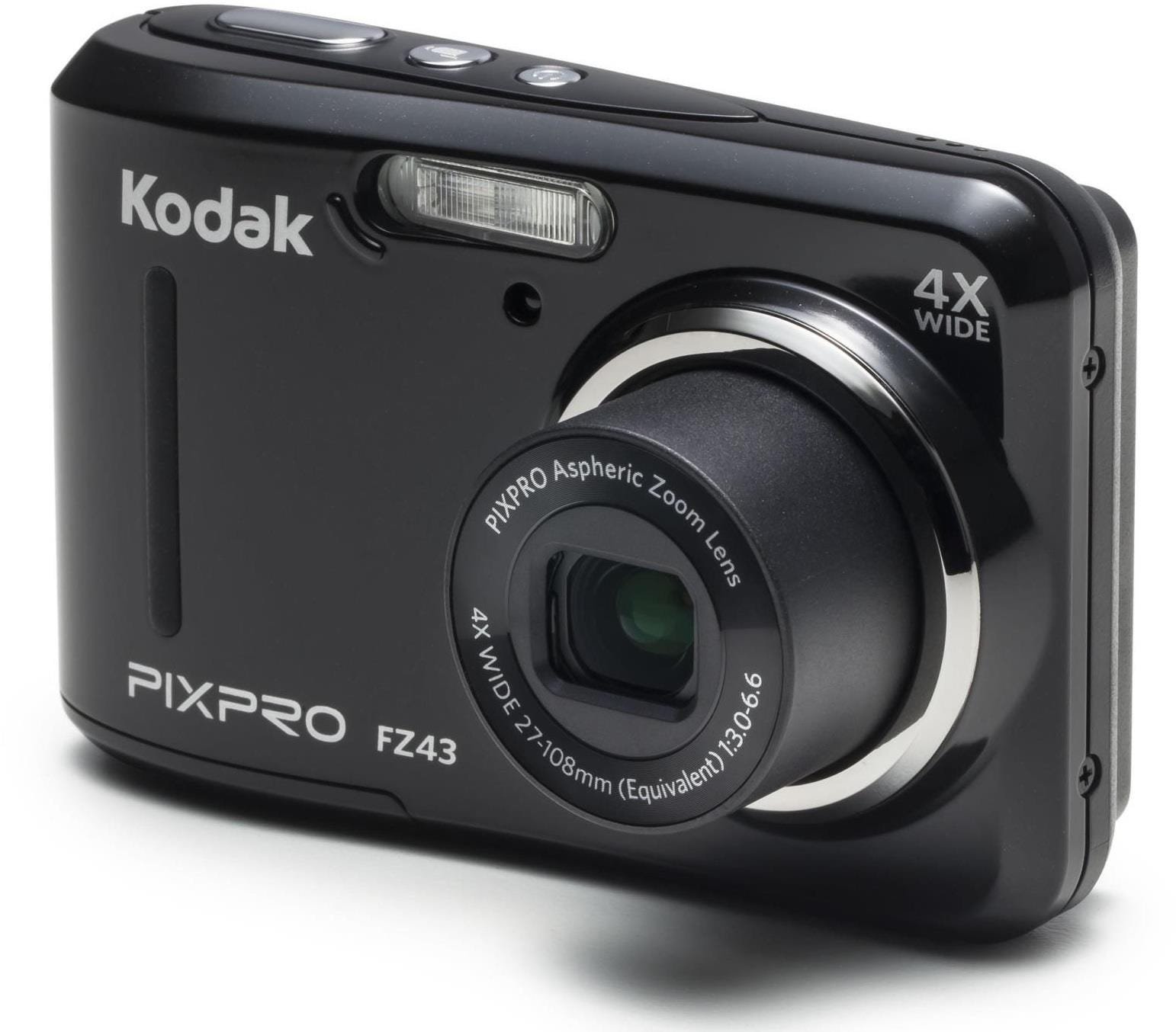 Kodak PIXPRO FZ43 16MP 4x Zoom Compact Camera - Black