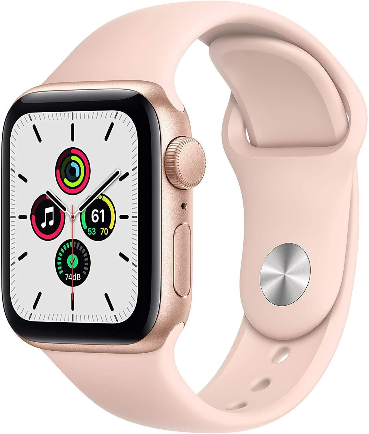 Apple GPS 40mm Watch SE - Regular - Gold Aluminium Case with Pink Sand Sport Band