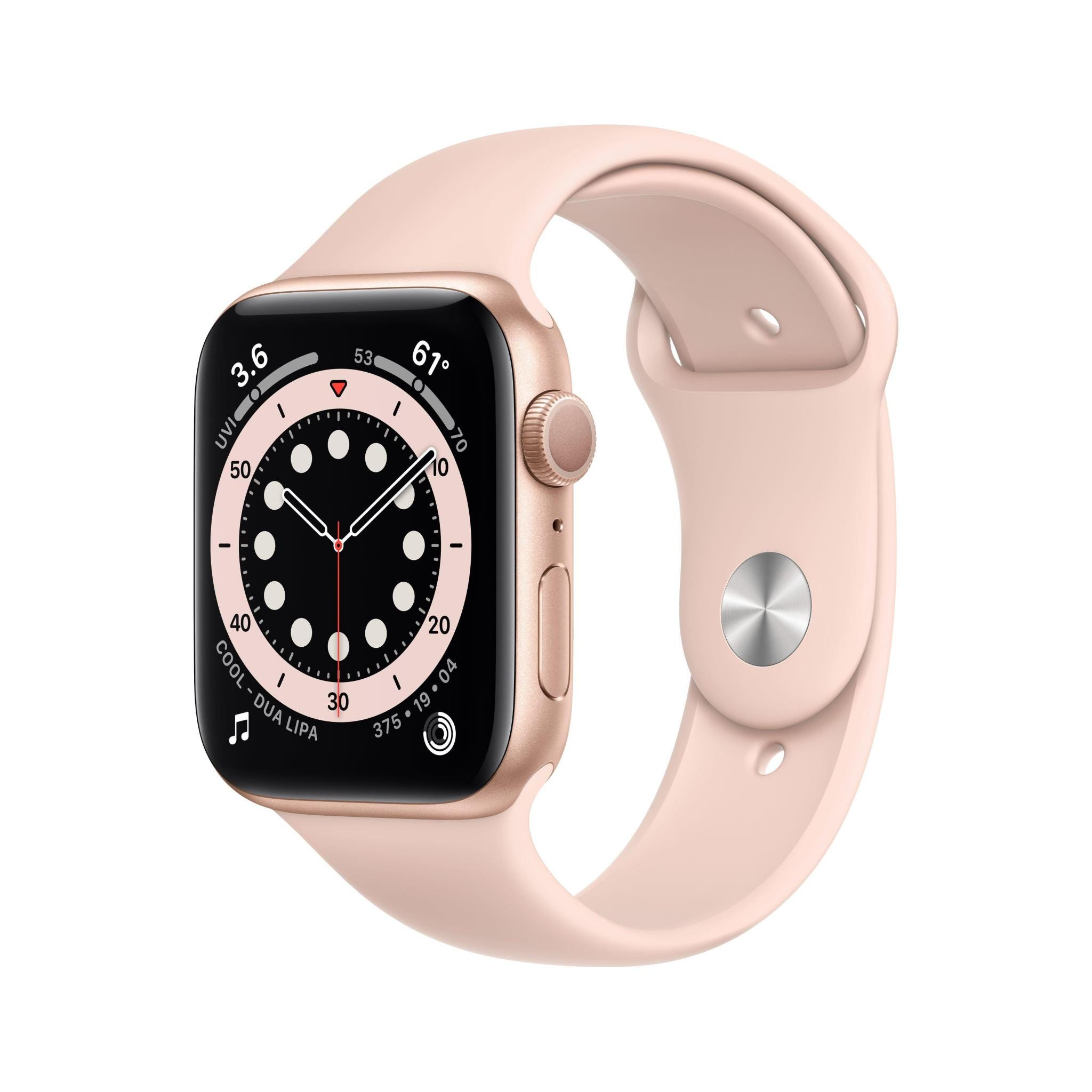 Apple GPS 44mm Watch Series 6  - Regular - Gold Aluminium Case with Pink Sand Sport Band
