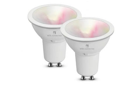 4lite WiZ Connect Multicolour WiFi LED Smart Bulb - GU10, 2 Pack