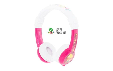 BuddyPhones Explore Foldable Wired Headphones - Pink