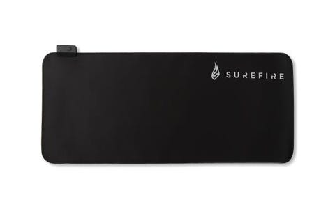 SureFire Silent Flight 680 Large RGB Gaming Mouse Pad - Black