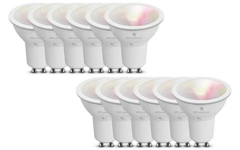 4lite WiZ Connect Multicolour WiFi LED Smart Bulb - GU10, 12 Pack