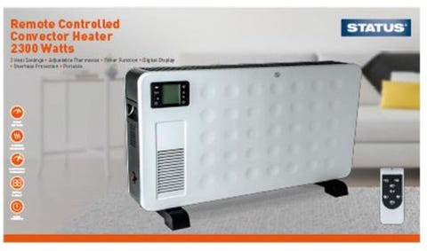 status Remote Controlled Convector Heater