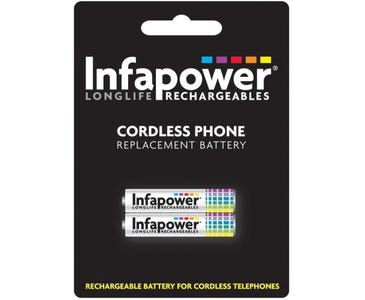 InfaPower Rechargeable 1.2v Ni-MH AAA Batteries for Cordless Telephone (Pack of 2)