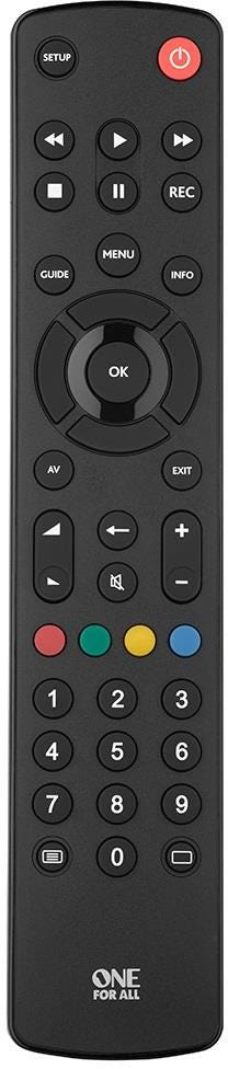 One For All Contour Universal Remote Control for TV