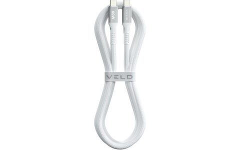 AVF Super Fast Braided USB-C Cable - White, 1.5m