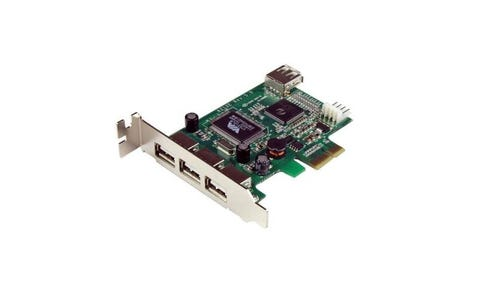 Startech PEXUSB4DP 4 Port PCI Express Low Profile High-Speed USB Adapter Card