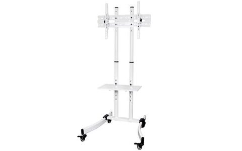 "ProperAV Portable TV Trolley Stand for 32""-65"" Screens - White"