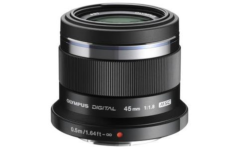Olympus M.Zuiko Digital 45mm 1:1.8 / ET-M4518 Camera Lens for Olympus PEN- Black