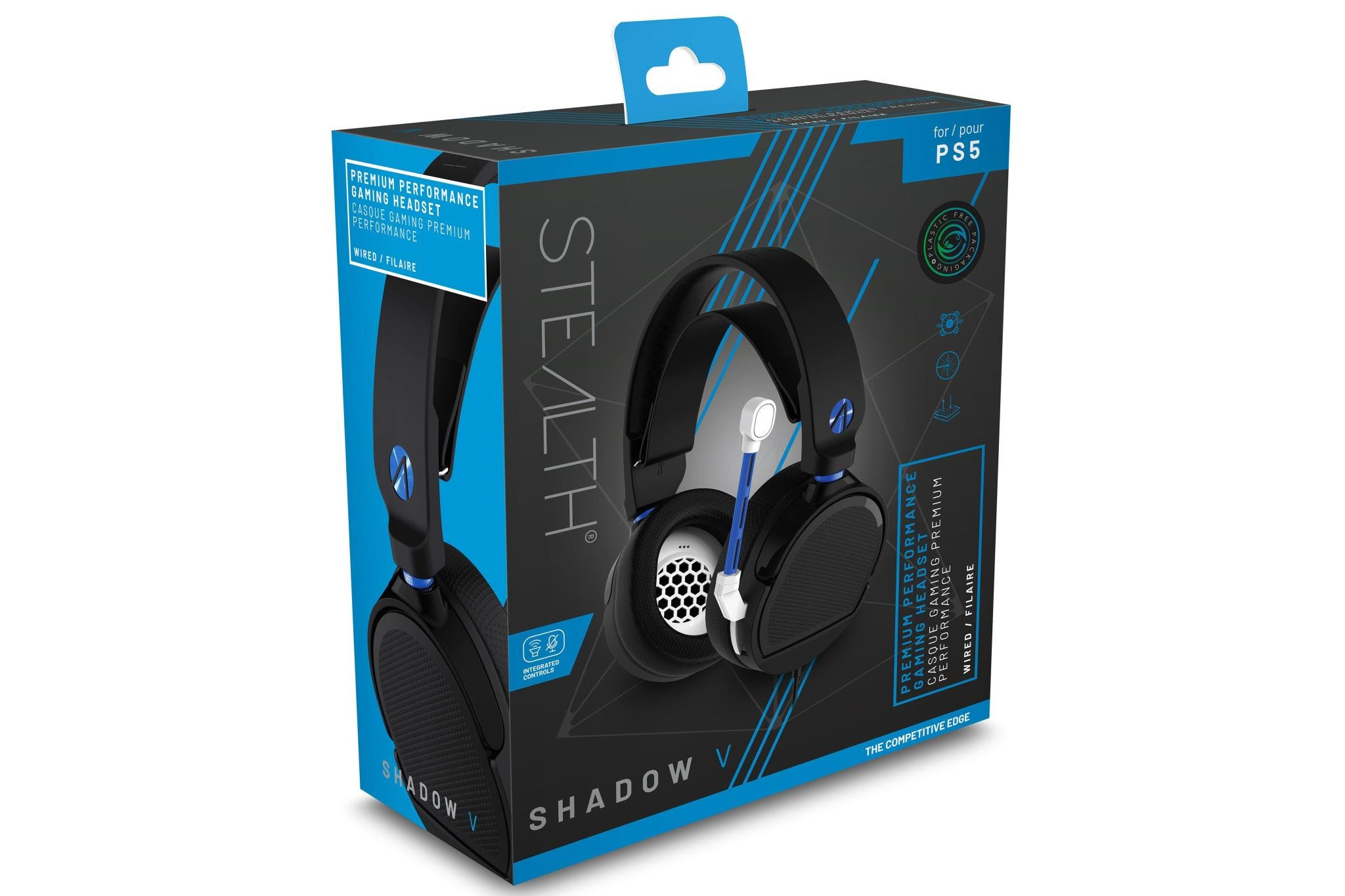 Stealth SP-Shadow V Premium Stereo Gaming Headset - Black and Blue