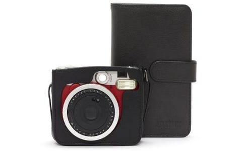 Fujifilm Instax Mini 90 Instant Camera Bundle including Case, Album & 10 Shots - Red