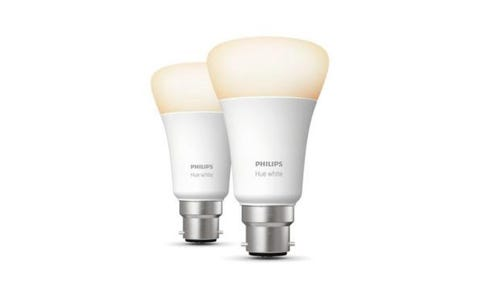 Philips Hue Warm White Bluetooth LED Smart Bulb - B22, Twin Pack