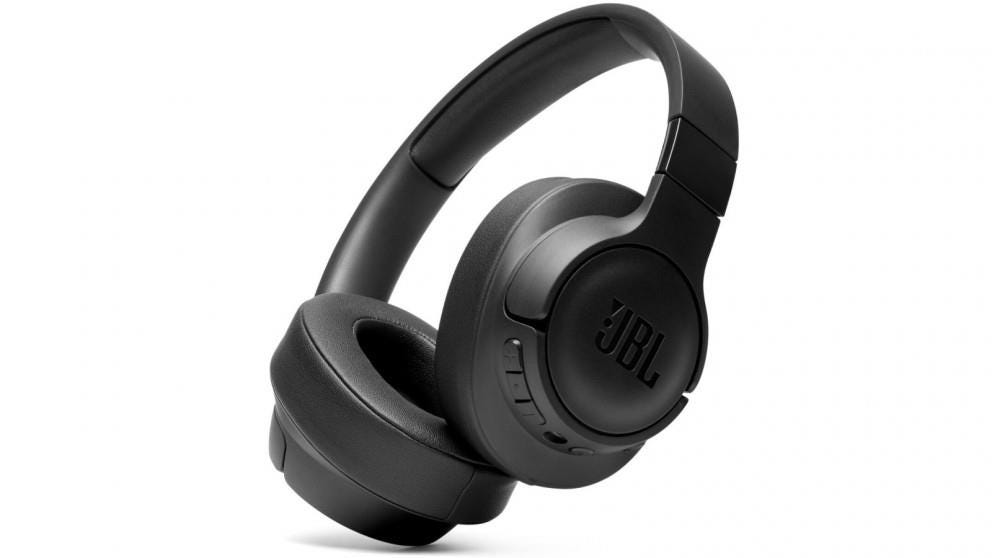 JBL Tune 750BTNC Wireless Bluetooth Noise-Cancelling Over-Ear Headphones - Black