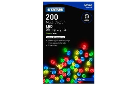 Status Malmo 200 Multi Coloured LED String Lights