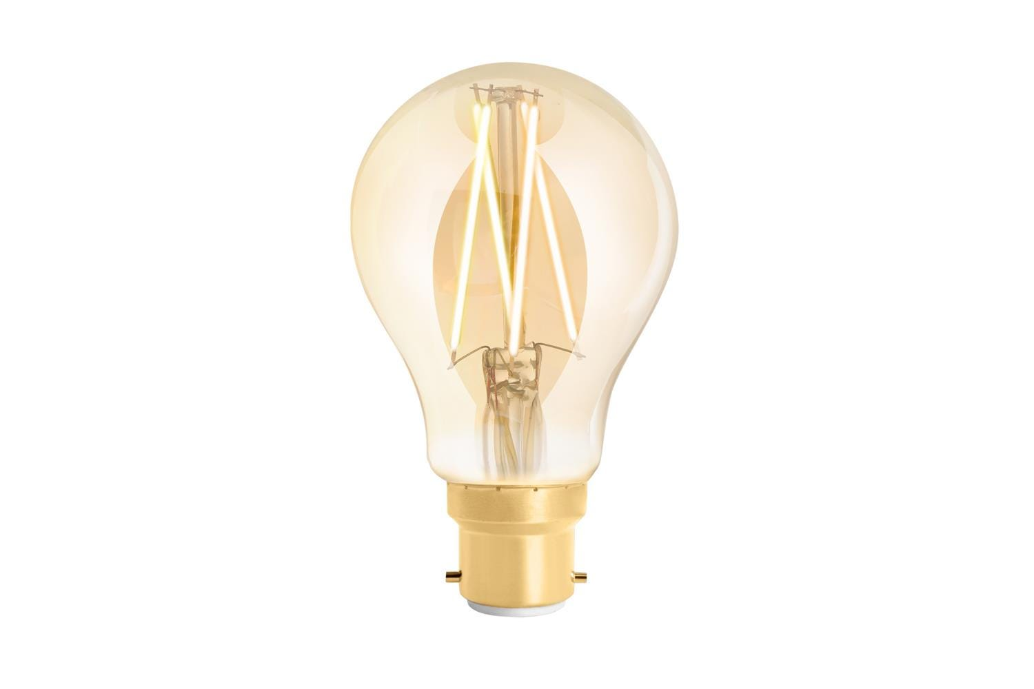 4lite WiZ Connected A60 Edison Filament LED Smart Bulb Amber White Dimmable WiFi  - B22 Bayonet