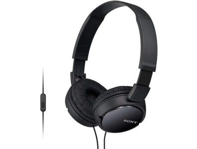 Sony MDR-ZX110AP Overhead Headphones with In-Line Control - Black