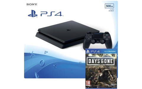 Sony PlayStation 4 500GB Jet Black Console with Days Gone