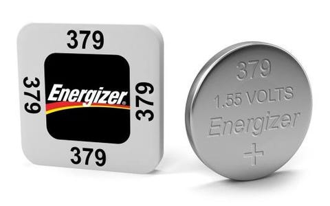 Energizer SR63/S56 379 Silver Oxide Coin Battery 1.55 V 14.5mAh Pack of 1