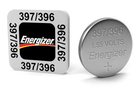 Energizer SR59/S77 397/396 Silver Oxide Coin Button Cell Battery Pack of 10
