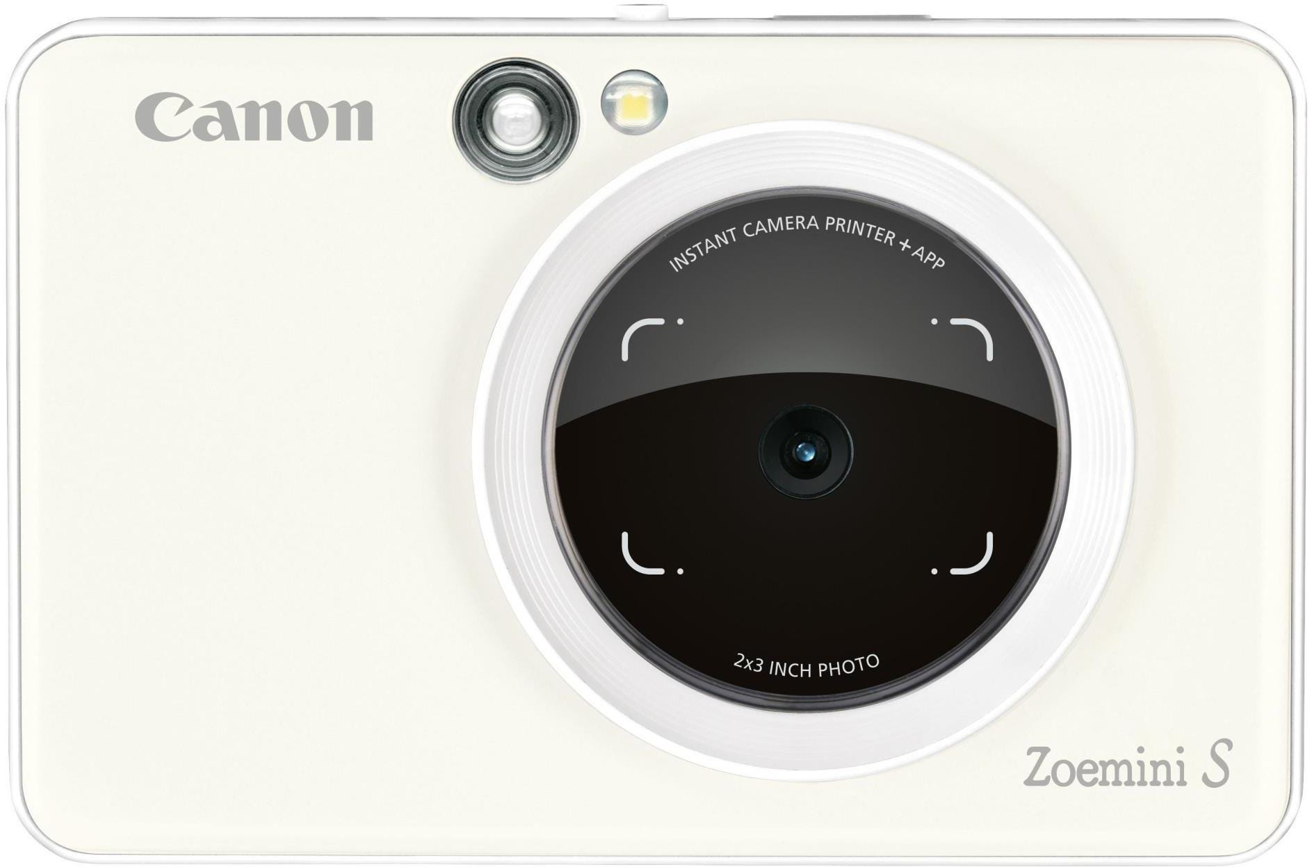 Canon Zoemini S Pocket Size 2-in-1 Instant Camera (10 Shots) - Pearl White