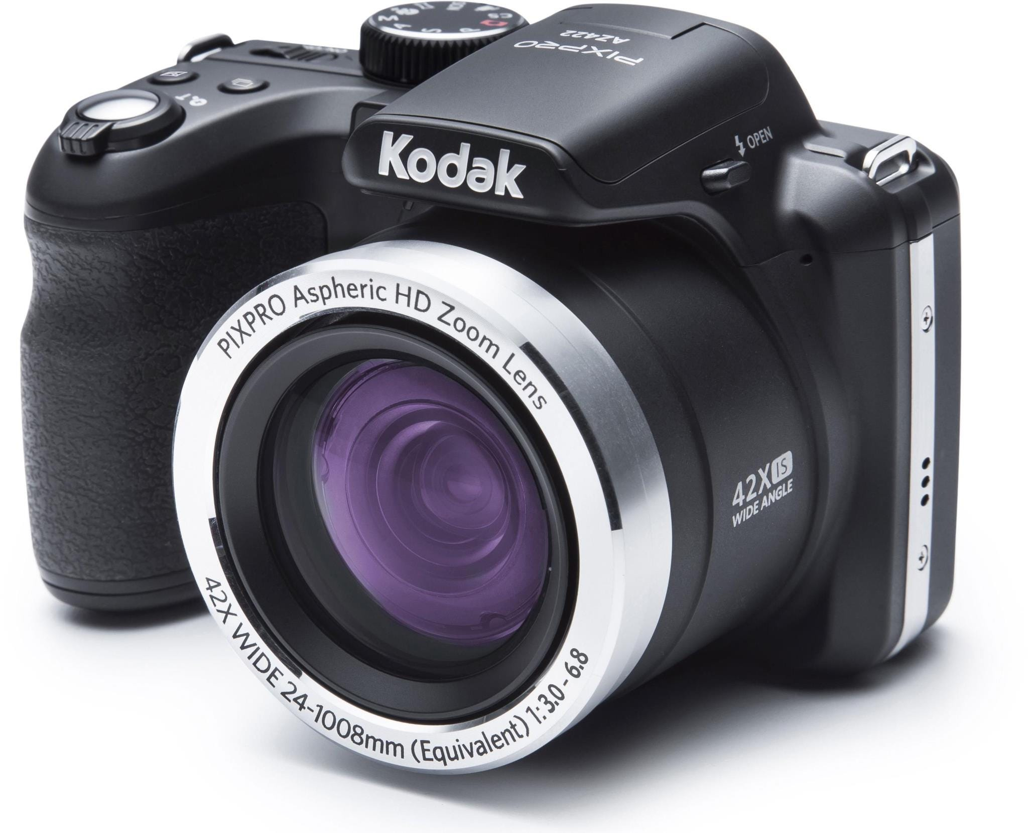 Kodak PIXPRO AZ422 Astro 20MP 42x Zoom Bridge Camera - Black