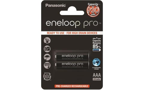 Panasonic Eneloop Pro Rechargeable Pro Ni-MH AAA Batteries - Pack of 2