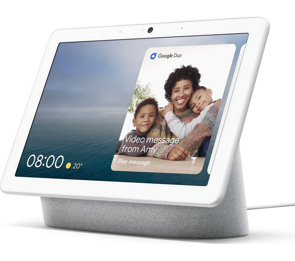 "Google Nest Hub Max Smart Home Controller with 10"" Screen - Chalk"