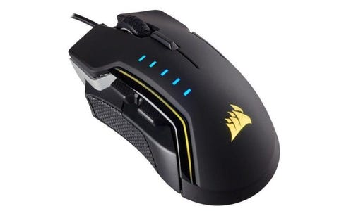 Corsair GLAIVE RGB Optical Mouse - Aluminum