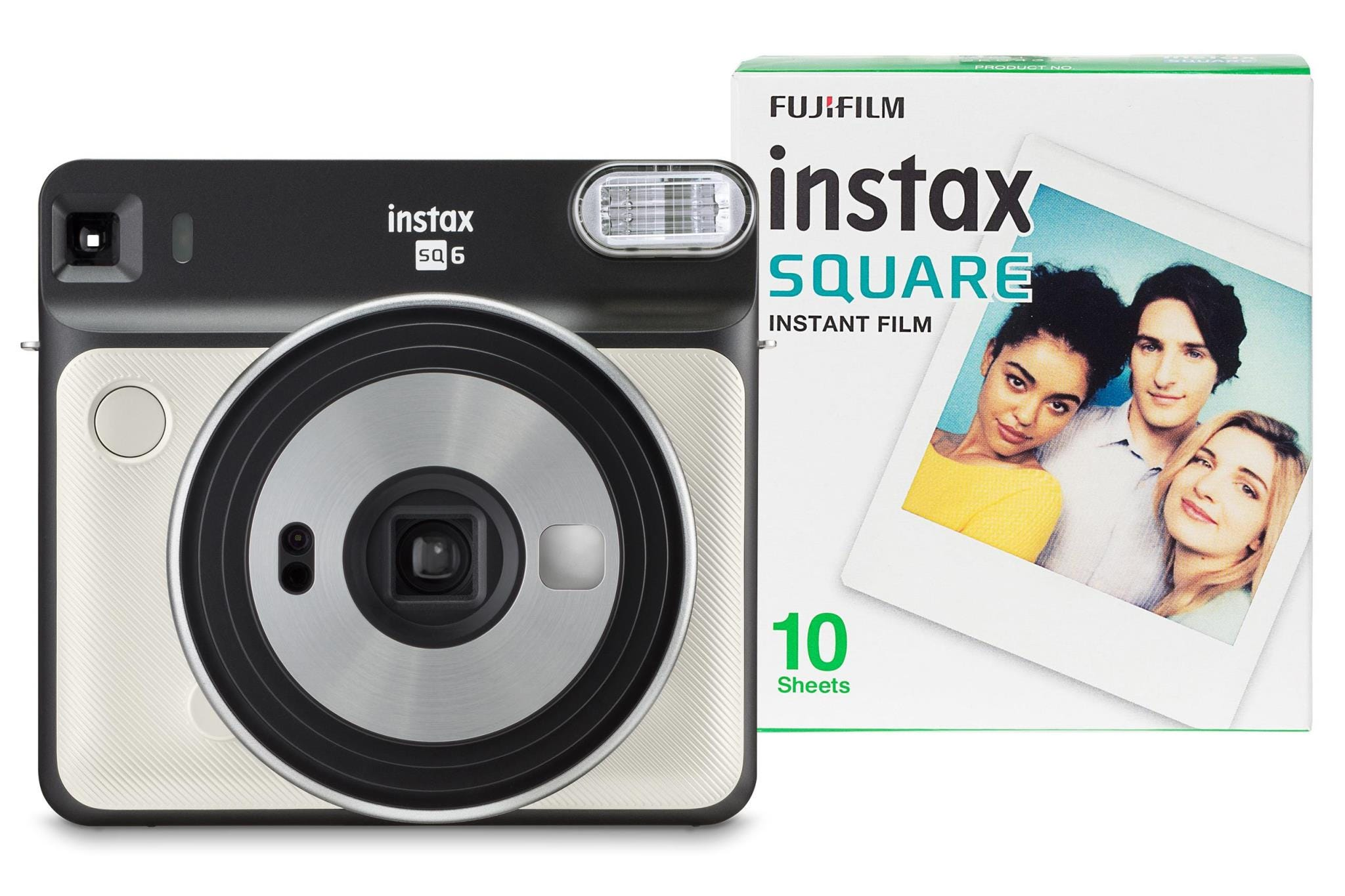 Fujifilm Instax Square SQ6 Instant Camera (10 Shots) - Pearl White