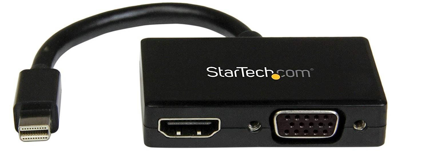 Startech Travel A/V Adapter: 2-in-1 Mini DisplayPort to HDMI or VGA Converter