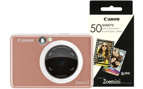 Canon Zoemini S Pocket Size 2-in-1 Instant Camera (60 Shots) - Rose Gold
