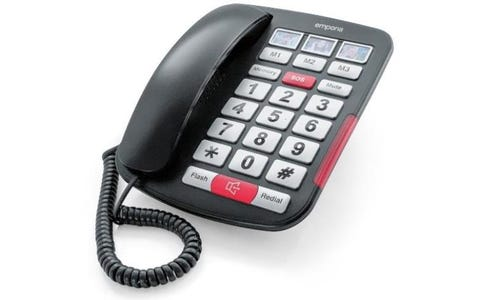 Emporia AMPLI40 Corded Phone with +40dB Handset Amplification