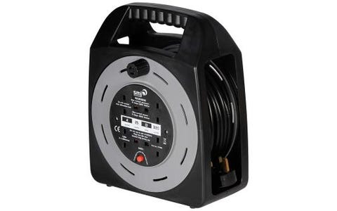 SMJ Electrical Easy Wind Compact 4-Socket Extension Cable Reel - 25m